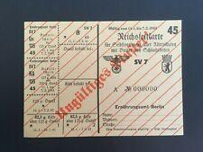 GERMANY/ BERLIN 1943. FOOD STAMPS. VALID 11.1 - 7.2. 1943 -:-  NICE ORIGINAL.