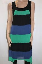 KATIES Brand Green Blue Colour Block Sleeveless Shift Dress Size 12 BNWT #SV51