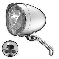 UNION Nostalgie-LED-Scheinwerfer Union verchromt, 40 Lux, Nabendynamo, klassik