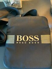 hugo boss messenger bag black and gold