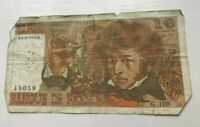 1974 France 10 Francs - World Banknote Currency