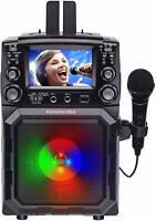 Karaoke USA Portable Battery-Powered CDG/MP3G Karaoke Player w/ Bluetooth, 1 Mic