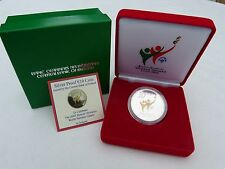 IRELAND 2003 SPECIAL OLYMPICS 10 EURO SILVER PROOF WITH GOLD DETAIL, CASE, SPECS