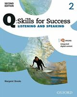 Q Skills for Success: Level 2: Listening & Speaking Student Book with iQ Online