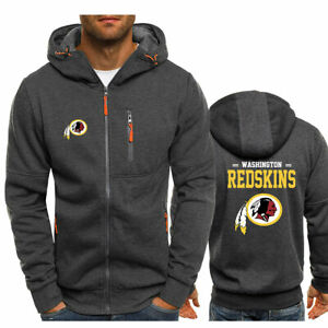 Washington Redskins Fans Hoodie Warm Jacket Sporty Sweatshirt Coat Autumn Tops