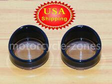 2pcs Smoke Turn Signal Light Lens Cover For Harley Touring Road King Visor Style
