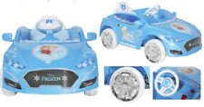 Disney Frozen Convertible Car 6-Volt Battery-Powered Ride-On Blue Kids ~New