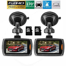 "2x HD 2.7"" LCD 1080P Car DVR Vehicle Camera Video Recorder Dash Cam Night Vision"