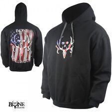 Bone Collector Patriotic Flag Hoodie Size Medium M