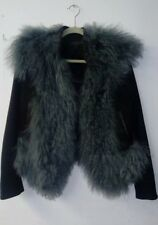 Rag and Bone Black Wool With Colored lamb fur jacket 4