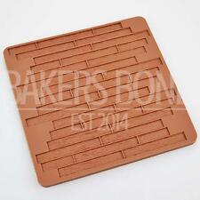 Grano de madera Impresión De Silicona Molde Mat Pastel Repujar Fondant Chocolate Hielo