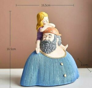 Father Daughter Resin Statue Sculpture Figurine Tabletop Home Office Decoration