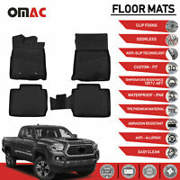 Floor Mats Liner 3D Molded Fits for Toyota Tacoma Access Cab 2016-2020 W/Auto