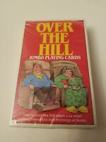NEW SEALED Vintage Deck of Humorous Jumbo Playing Cards OVER THE HILL 1988
