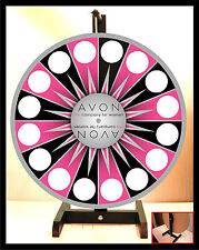 "Prize Wheel 18""  Tabletop Portable Avon Starburst Silver Ctr Spinning Wheel"