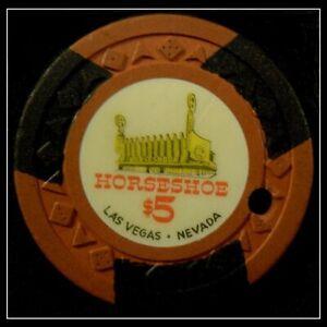 "HARD TO FIND / Vintage 1951 ""Binion's Horseshoe Club"" $5.00 Chip / Las Vegas"