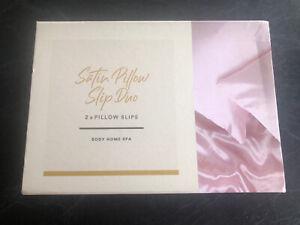 Satin Pillow Slip Duo , Pink Rrp $25 Sell $20