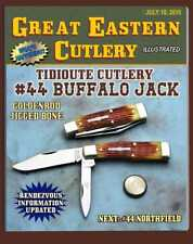 GREAT EASTERN CUTLERY KNIFE- TIDIOUTE  #44 BUFFALO JACK {GUNSTOCK} - JIGGED BONE