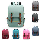 Mens Canvas Backpack School Laptop Travel Rucksack Satchel Fashion Shoulder Bag