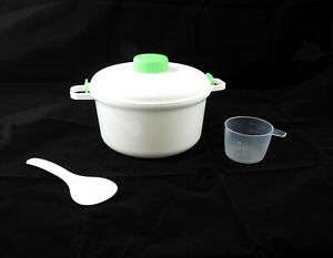 Microwave Steamer Healthy Cooking Quick Fast Vegetables Meats Poultry Fish Rice