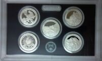 2012 S Silver America the Beautiful 5 Coin Quarter Gem Proof Set without Box/COA