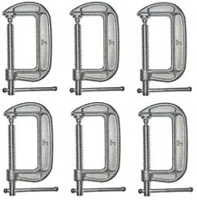 """(6) ea Bessey Tools CM30 3"""" Drop Forged  Galvanized C Clamps"""