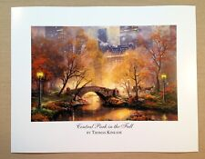 "Thomas Kinkade Open Edition print ""Central Park in the Fall"""
