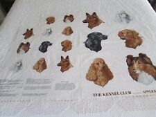 """Assorted Dogs Appliques Cranston VIP Fabric - Kennel Club Appliques 35 by 43"""""""