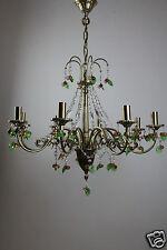 Großer Design Kristall Kronleuchter Lüster Lampe Messing 8 flammig 1+257