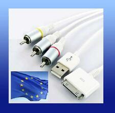 Cable MULTIFUNCION AV TV video USB cargador Iphone apple Ipod nano touch 3G RCA