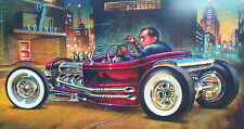 SIGNED KEITH WEESNER POSTER PRINT  VTG STYLE 1932 FORD HOT ROD ROADSTER PICKUP