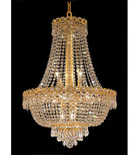 Palace Empire 12 Light 20x28 Crystal Chandelier Ceiling Light Gold