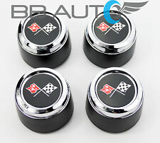 1973-1979 CHEVROLET CORVETTE ALUMINUM WHEEL HUB CENTER CAPS SET NEW 1973-1982
