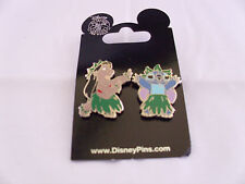 Disney * LILO & STITCH * HULA * 2 Pin Set * New on Card Trading Pins