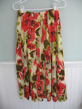 Per Una/Marks and Spencer Multi-Color Floral Skirt - Size UK 10 or US 6/8