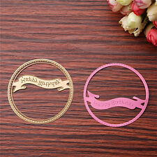 Gold Birthday Ring Dies Metal Cutting Stencil Scrapbooking Paper Card Decor DIY