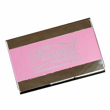 Personalized Pink Business Card Case Holder - Custom Engraved Office Gift