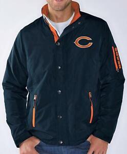 Chicago Bears MENS Full Zip Jacket Polyfill Sack Coat Navy by G-III