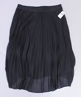 Alfani Women's Elastic Waist Pleated Midi Skirt TM8 Black Size XL NWT