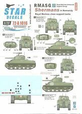 STAR DECALS 1/72 rmasg Shermans in Normandia - Royal Marine CHIUDE supporto