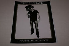 Bret Michaels B&W GUITAR 8x10 Celebrity Promo Picture ROCK MY WORLD RARE OOP HTF