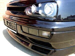 For VW Golf MK3 3 Black Smoke Indicator Repeater Fog Light Lamps Bumper Covers