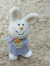 💖 Easter bunny Rabbit Bernadette purple dress 💖 Hallmark Merry Miniatures 1985