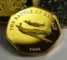 BATTLE OF BRITAIN 1940 24ct Gold Commemorative Coin Albums/50p Collectors, NEW!
