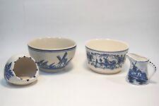 4PC Delft Blauw Art Pottery Bowl, Pitcher Ashtray Bowl Lot