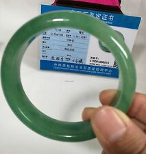 Cetified  Dongling Green Jade bangle bracelet, Gemstone bangle Dia 59mm