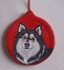Finnish Lapphund dog Christmas Ornament Decoration Hand Painted Ceramic