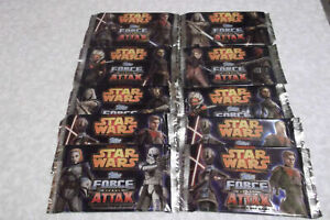 10x sealed PACKS Star Wars Force Attax Series 4 Trading Cards NEW sealed
