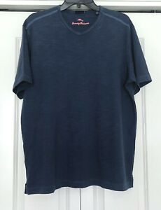 Men's TOMMY BAHAMA Wave Tropic V-Neck Pima Cotton T-Shirt Size M