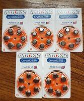30 x Rayovac Crystal Clear Plus Hearing Aid Batteries Size 13 PR48 A13
